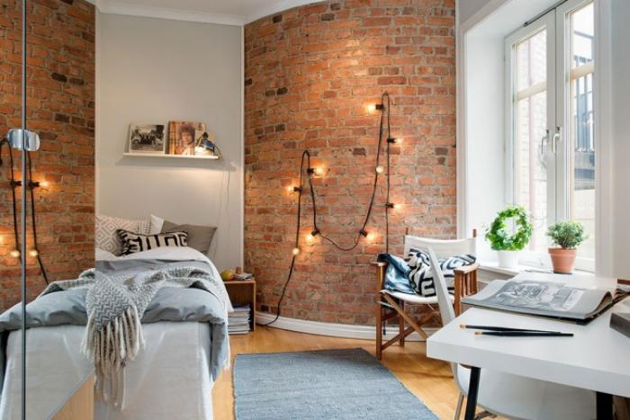 briques-de-parement-idée-déco-intérieur-scandinave-parement-mural-briques