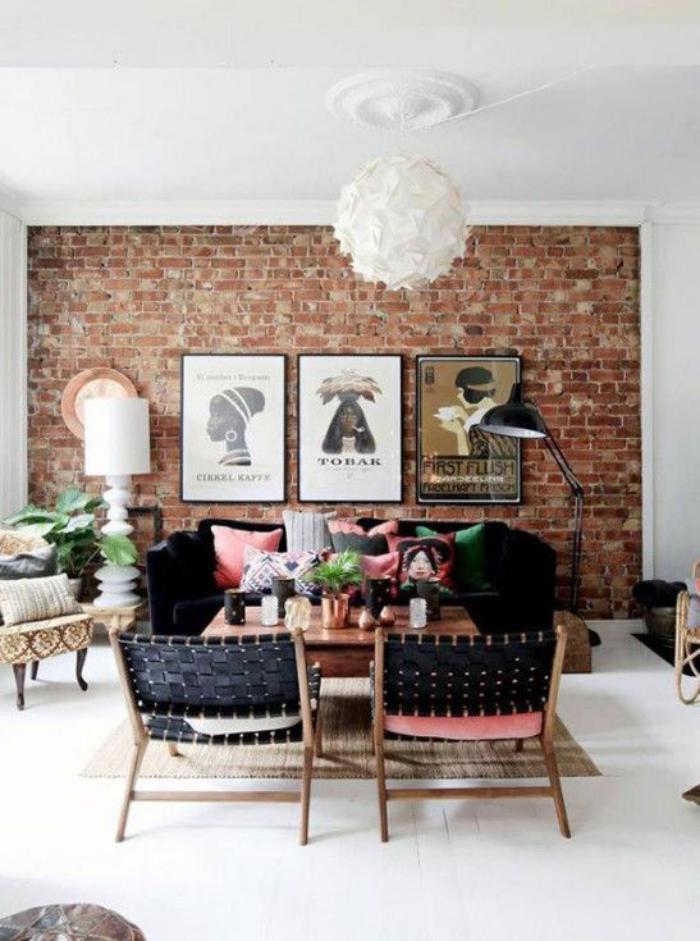 Les briques de parement et les briques apparentes int rieurs esprit loft for Idee couleur salon de jardin