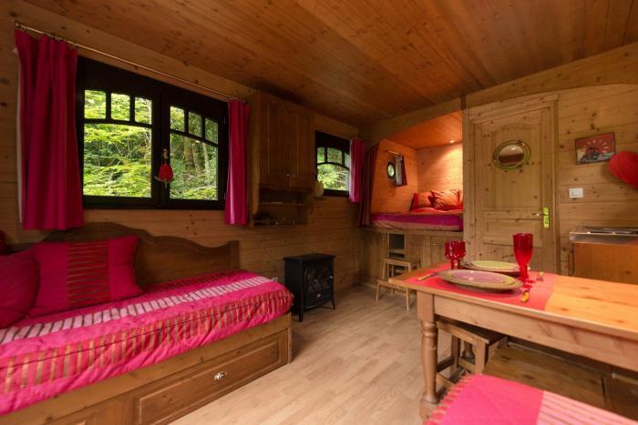 L 39 aventure de s journer dans une cabane dans les bois for Decoration interieur chalet bois