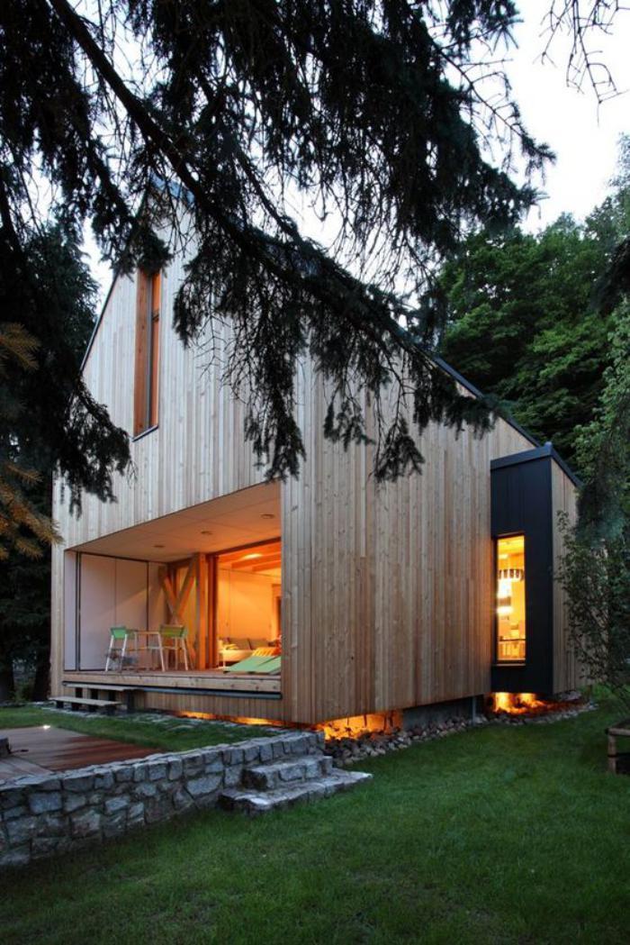 L 39 aventure de s journer dans une cabane dans les bois for Cabane en bois design