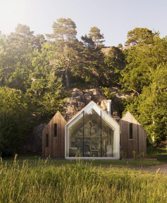 cabane-dans-les-bois-petite-cabane-architecture-moderne