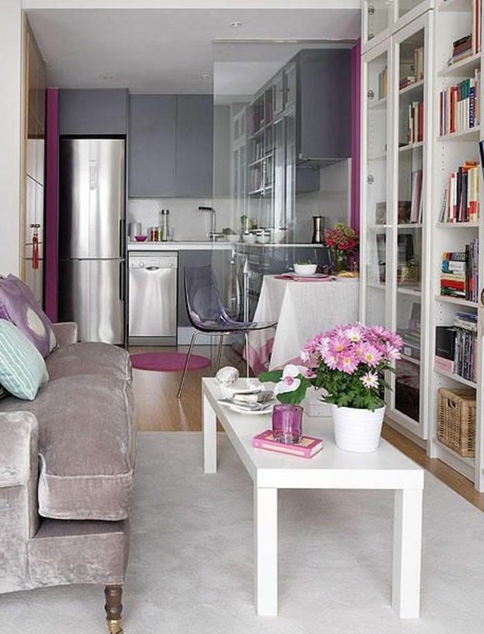 83 photos comment am nager un petit salon for Quelle couleur de rideaux avec canape gris