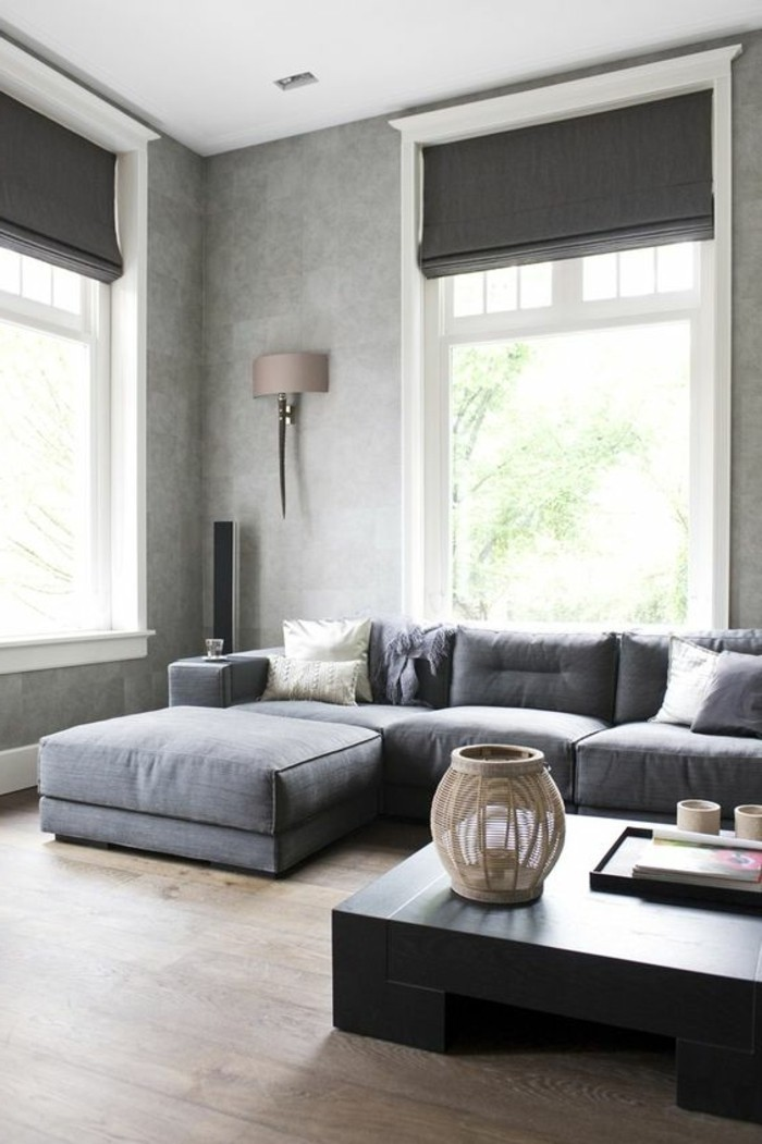 Idee deco salon noir blanc et gris id e for Salon gris deco