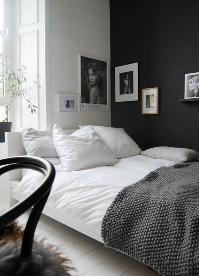 peindre une chambre en gris et blanc maison design. Black Bedroom Furniture Sets. Home Design Ideas