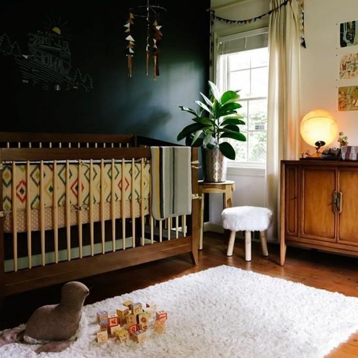 chambre-d-enfant-avec-tapis-fourrure-blanc-lit-bébé-meubles-d-enfant