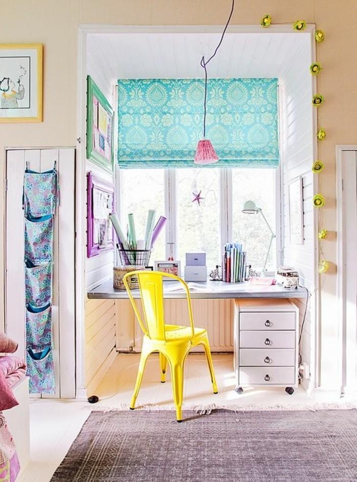 chambre-d-enfant-bine-meubler-idee-couleur-chambre-peindre-une-pièce-en-deux-couleurs
