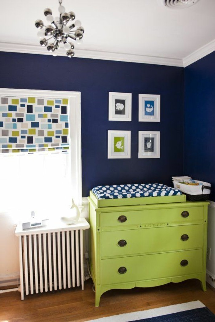 Chambre bebe vert anis et bleu turquoise - Chambre bebe turquoise ...