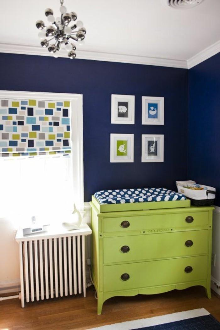 ophreycom chambre bebe vert anis et bleu turquoise