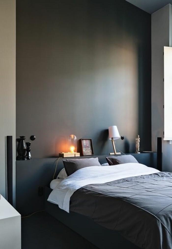 chambre-parentale-peinture-glycéro-de-couleur-gris-interieur-gris-noir-blan