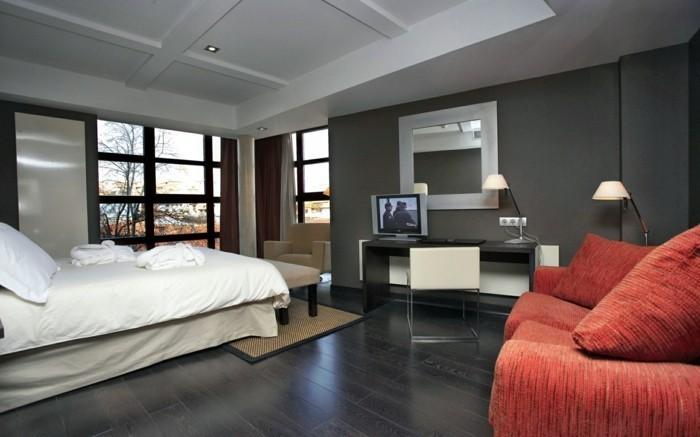 Chambre rouge et blanc - idées intéressantes pour votre maison ...