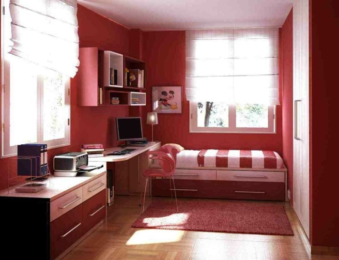 chambre rouge et blanc id es int ressantes pour votre maison. Black Bedroom Furniture Sets. Home Design Ideas