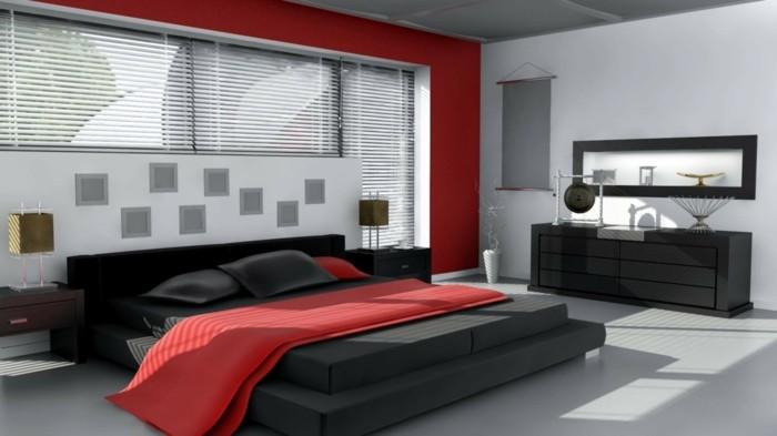 dco chambre rouge et blanc chambre rouge et blanc deco adulte g - Chambre Rouge Et Noir