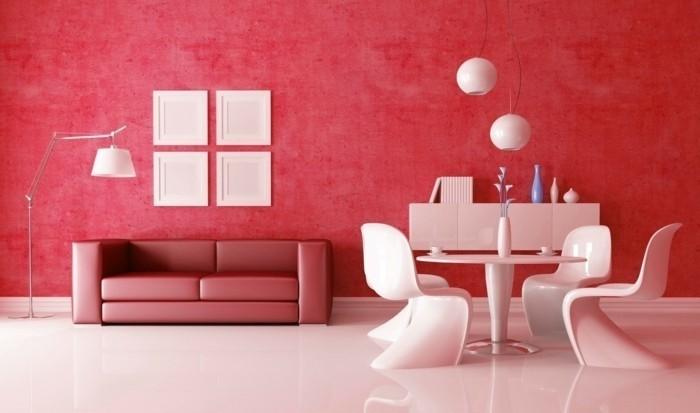 Decoration peinture chambre rouge design de maison - Peinture et decoration chambre ...