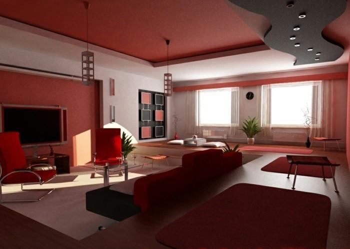 chambre-rouge-et-blanc-deco-chambre-adulte-tapisserie-chambre-adulte