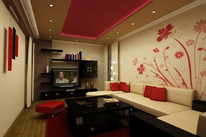 Chambre rouge et blanc  idées intéressantes pour votre