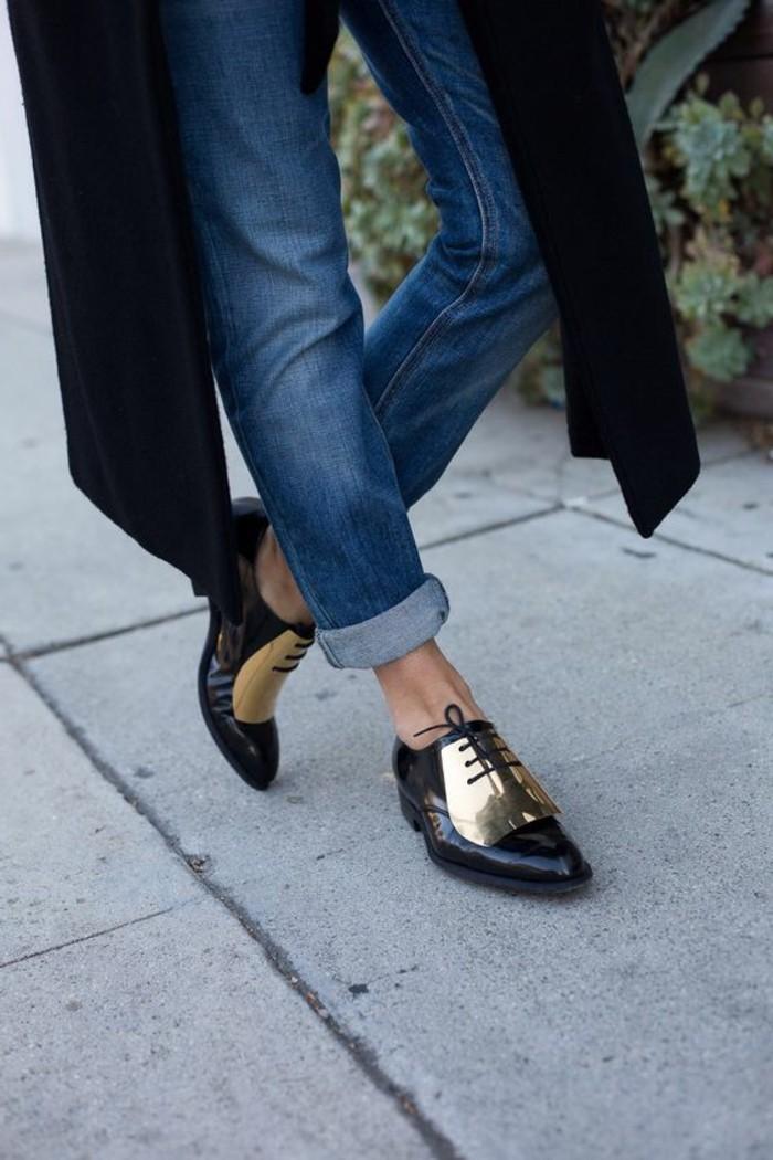 chaussures-derbies-femme-pas-cher-denim-bleu-femme-moderne-palteau-noir