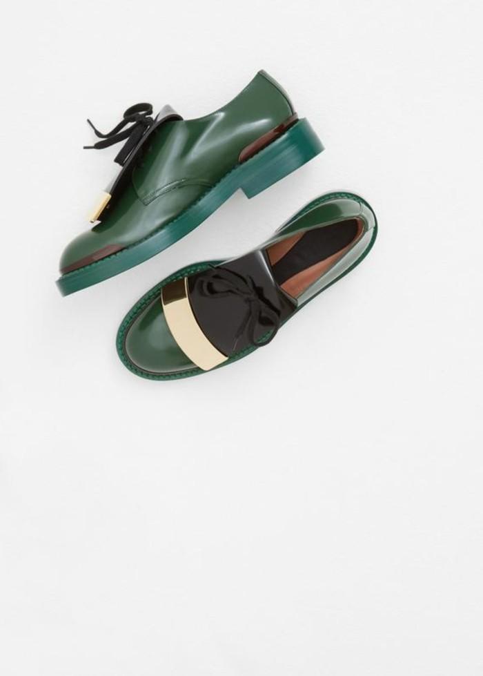 chaussures-derbies-vert-en-cuir-derbies-femme-cuir-chaussures-modernes-femme