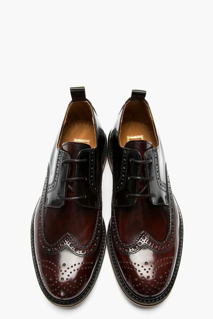 chaussures-femme-cuir-rouge-foncé-chaussures-derbies-femme-rouge-foncé