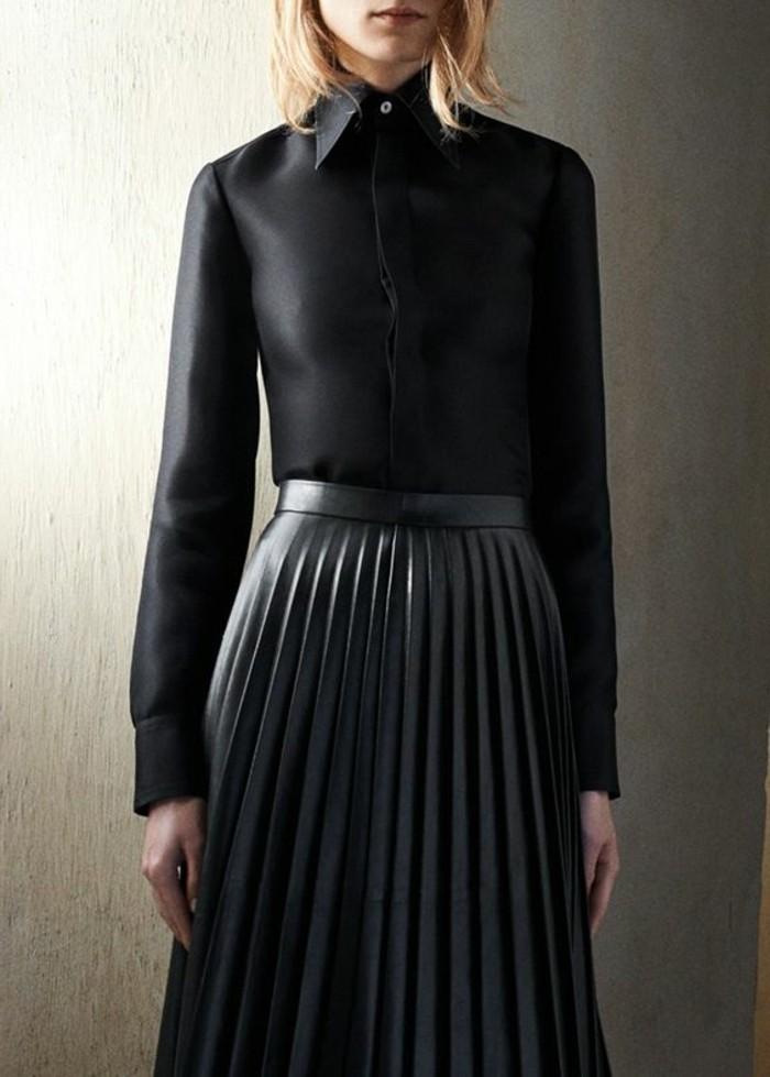 chemise-noire-femme-jupe-mi-longue-femme-de-couleur-noir-chemise-noire-femme