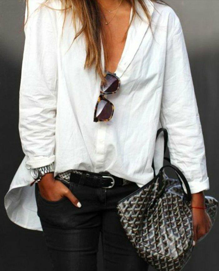 chic-tenue-avec-chemise-homme-blanche-chemise-femme-blanchе-belle-idee-lunettes