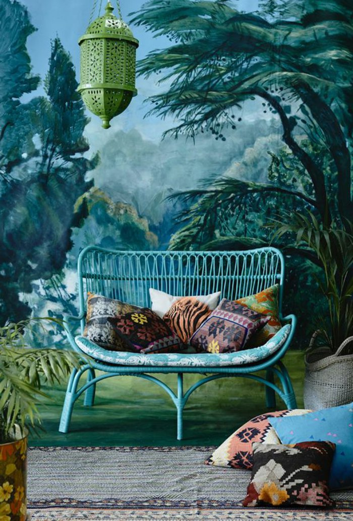chouette-fauteuil-rotin-style-rustique-cool-idée-à-recreer-maison-stylée-vert-idee