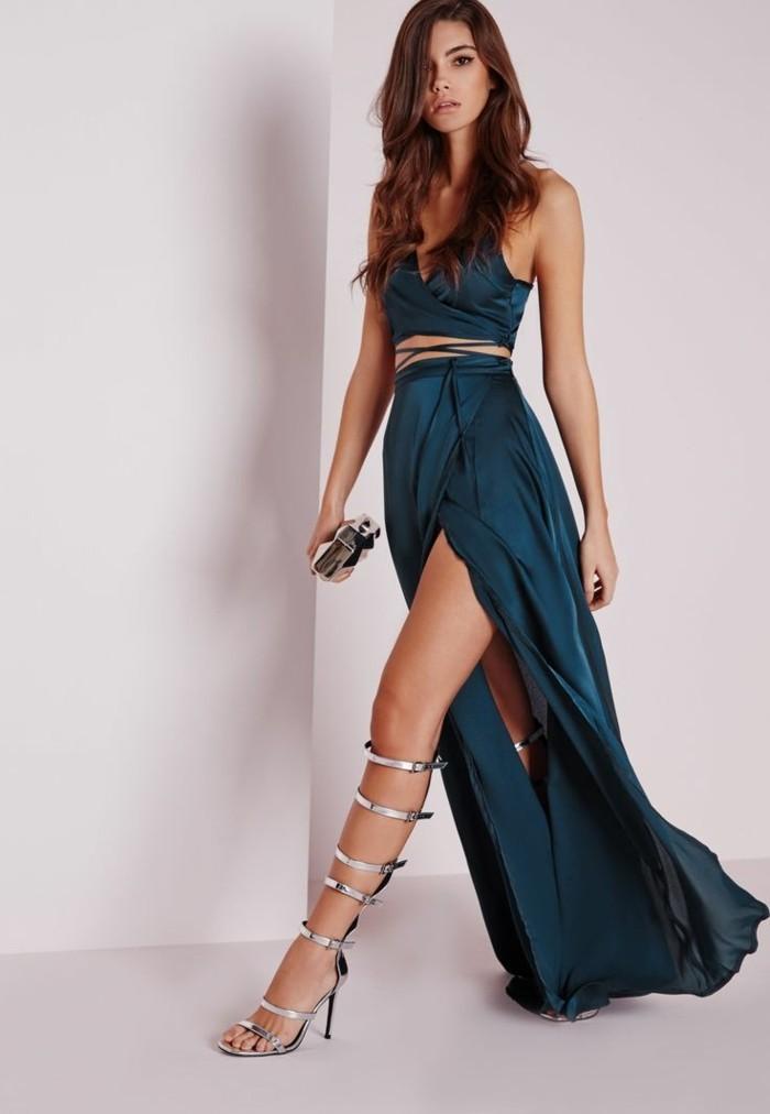 chouette-idee-tenue-de-jour-jupe-longue-fendue-couleur-petrol-moderne