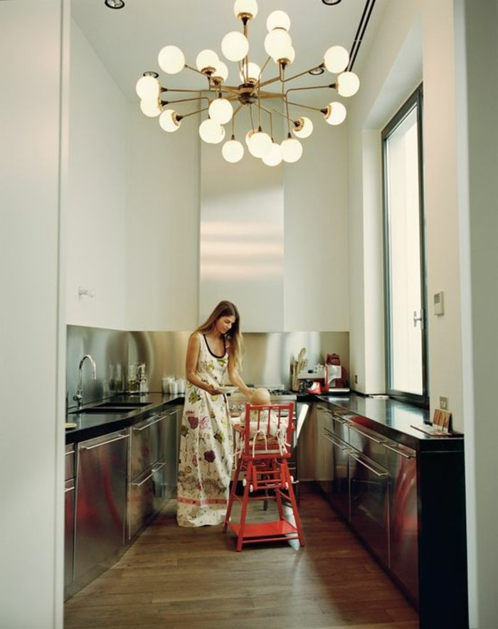 Milles conseils comment choisir un luminaire de cuisine - Comment poser une credence de cuisine ...