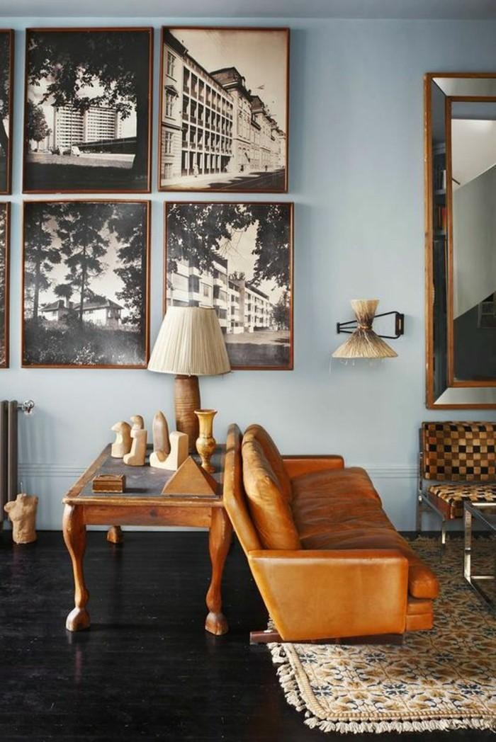 ... de salon chic, quelle couleur pour un salon mur gris, idée deco salon