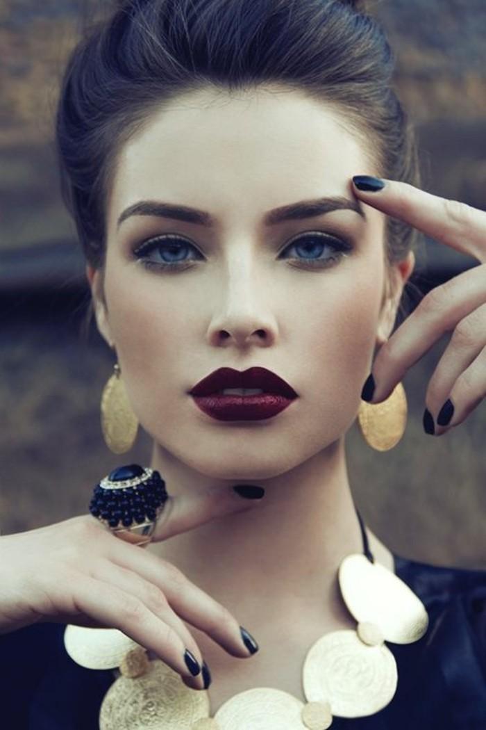 comment-porter-le-rouge-a-levres-fonces-rouge-à-lèvres-pas-cheres