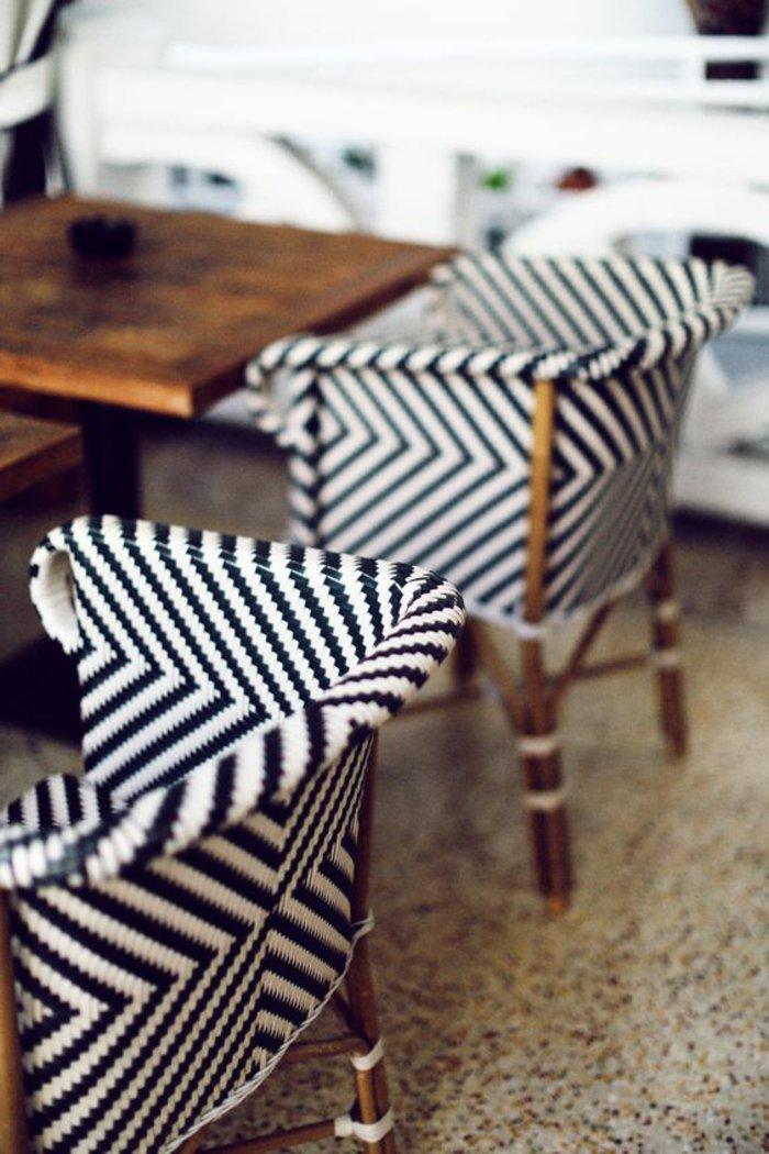 Le fauteuil en rotin les meilleurs modeles archzinefr for Meuble salle À manger avec chaise noir pas cher