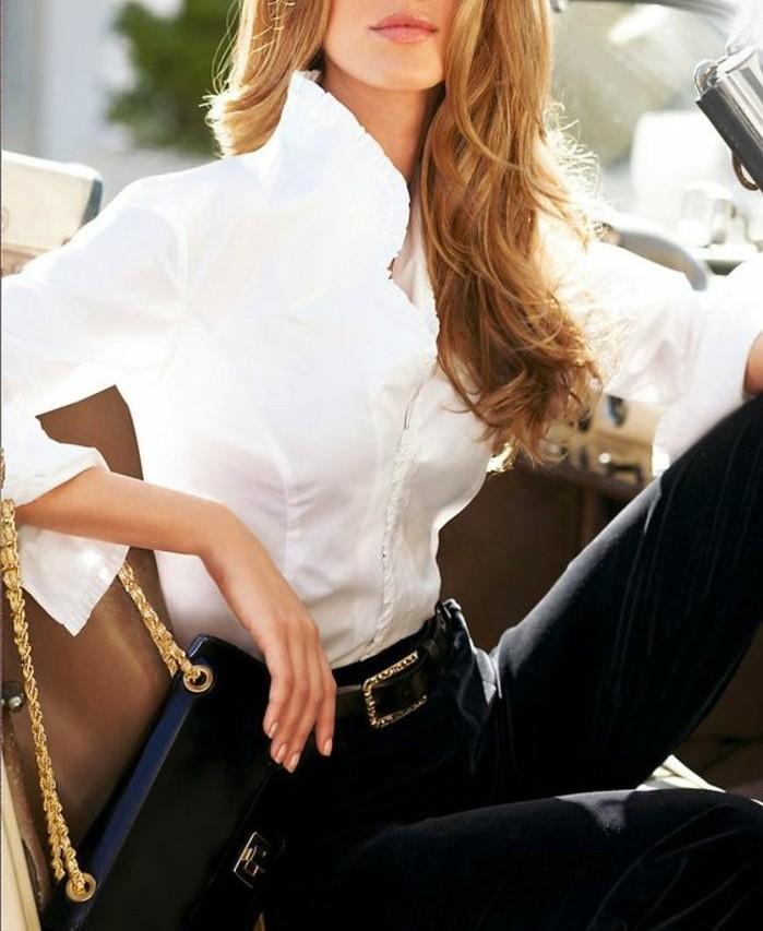cool-tenue-chemise-blanche-ralph-lauren-chemisier-blanc-femme-belle