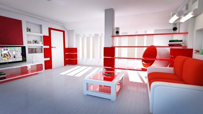 couleur-brique-chambre-rouge-et-blanc-deco-chambre-adulte