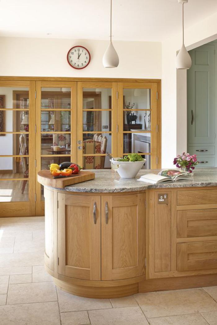 cuisine-avec-ilot-aménagement-cuisine-moderne
