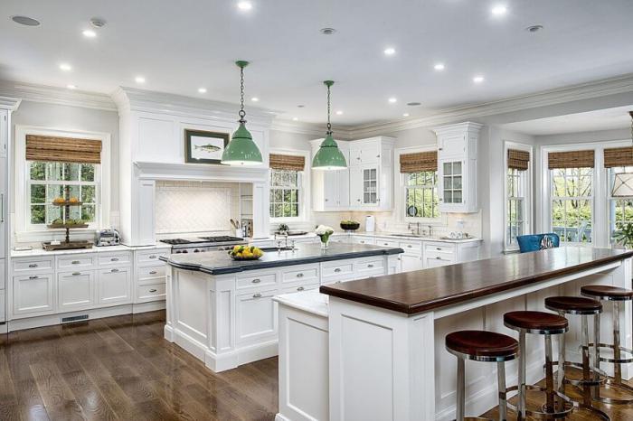 La cuisine avec ilot cuisine bien structur e et for Amenager sa cuisine avec de la recup