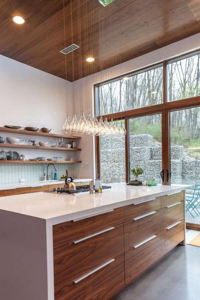 La cuisine avec ilot cuisine bien structur e et for Cuisine blanc ilot central