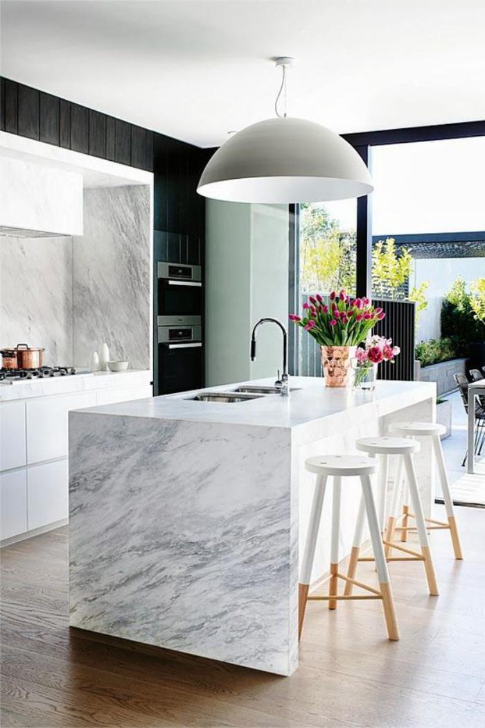 La cuisine avec ilot cuisine bien structur e et fonctionnelle - Creer son ilot de cuisine ...