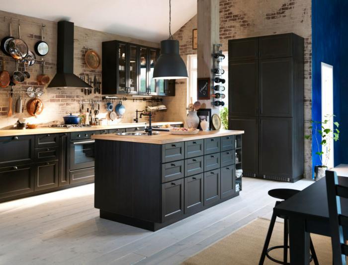 La cuisine avec ilot cuisine bien structur e et fonctionnelle - Ilot central cuisine avec evier ...