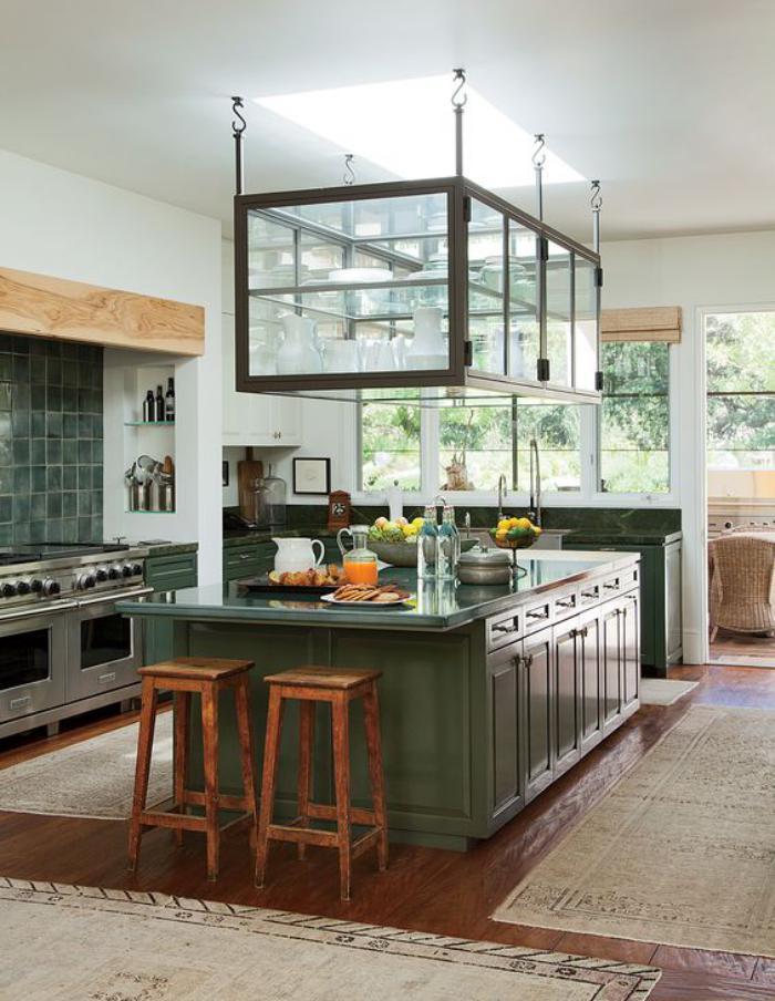 La cuisine avec ilot cuisine bien structur e et - Plan cuisine avec ilot central ...