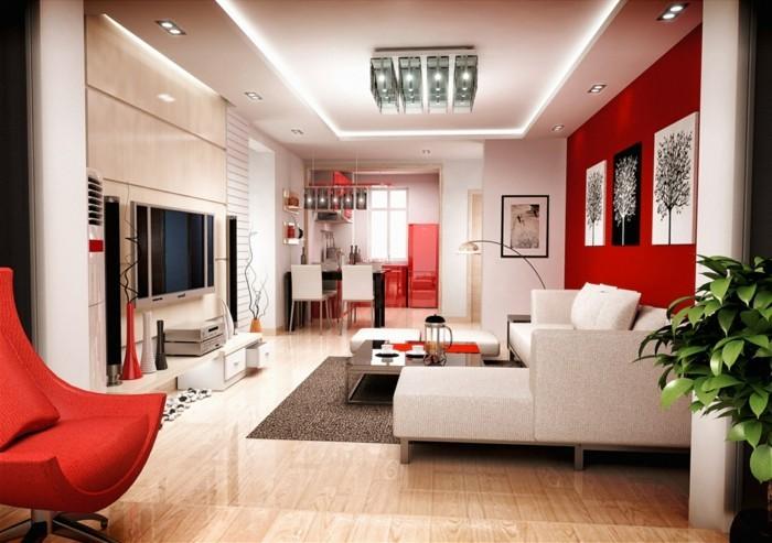 cuisine-rouge-et-grise-chambre-rouge-et-blanc-deco-chambre-adulte