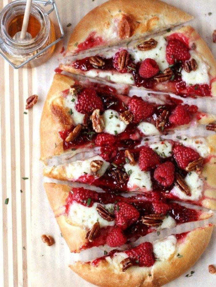 délicieuse-recette-dessert-framboise-gâteau-aux-framboises-pizza-style