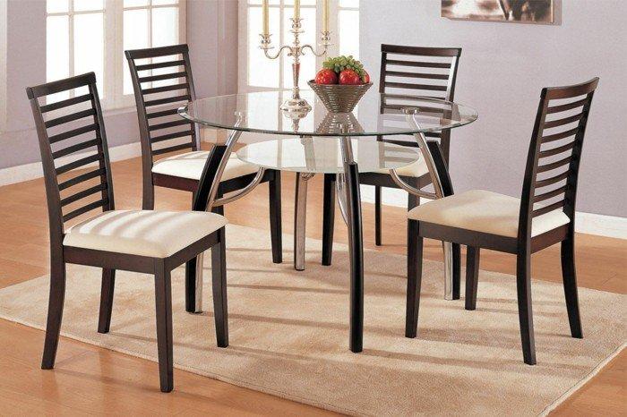 deco-belle-table-ronde-verre-plot-table-avec-rallonge-cool-idée-table-salle-a-manger