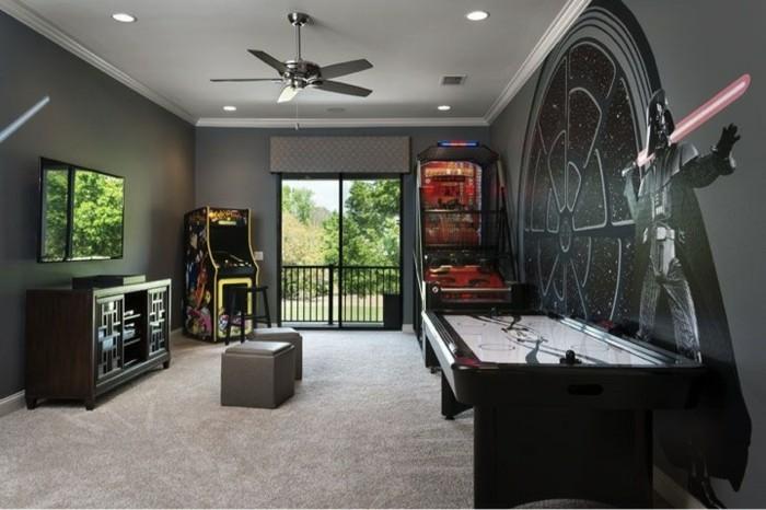 Faux Plafond Pour Chambre À Coucher : deco-chambre-star-wars-intérieur-cool-design-star-wars-thème-très …