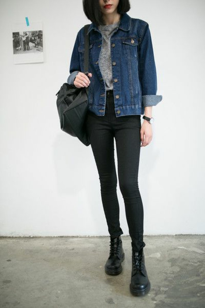denim-gris-femme-pantalon-slim-gris-femme-chaussures-noires-femme-veste-jean-femme