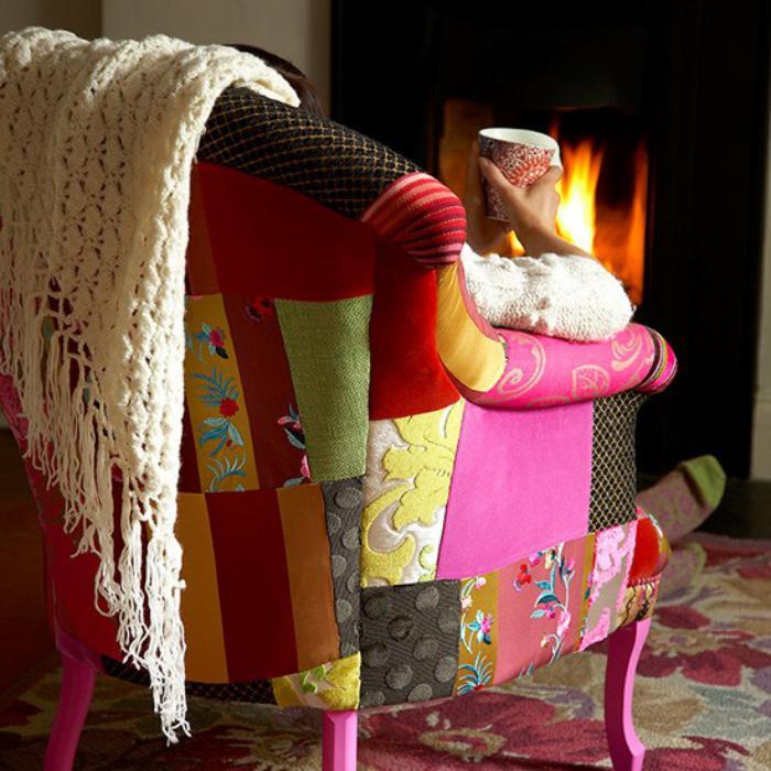 fauteuil-patchwork-décoration-d'intérieur-originale