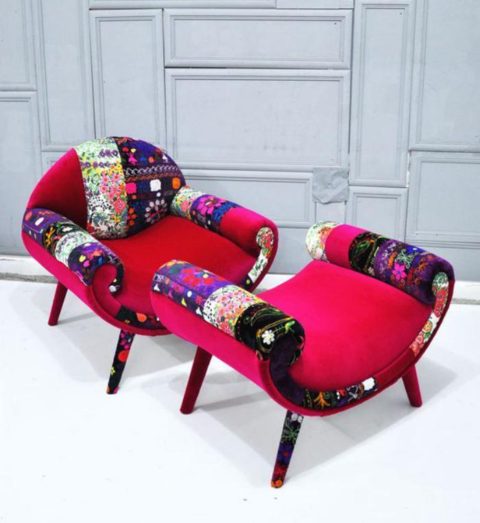 fauteuil-patchwork-et-tabouret-fauteuil-rose-patchwork