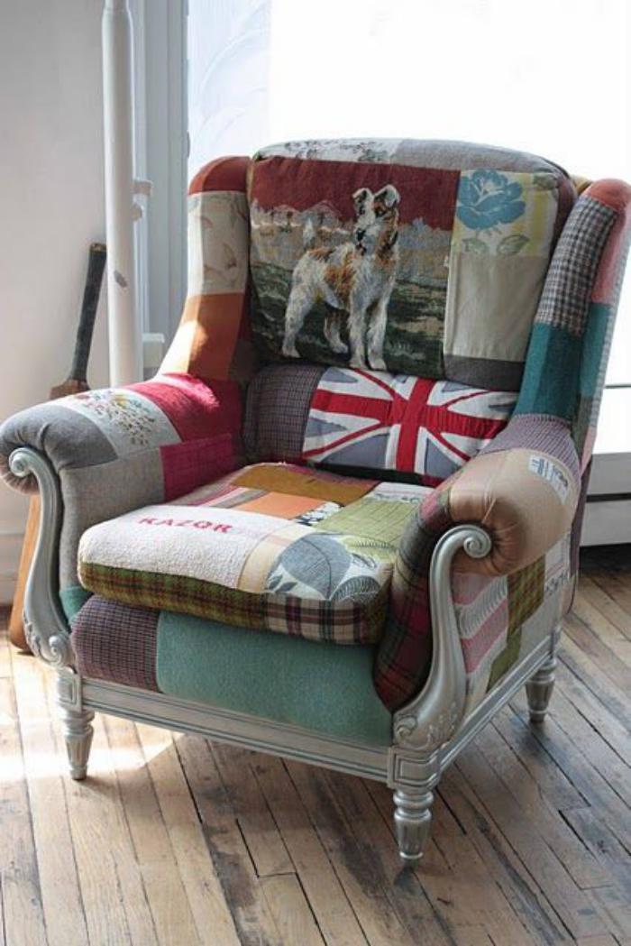 fauteuil patchwork fauteuil dco original