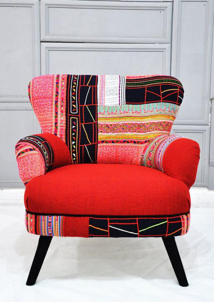 le fauteuil patchwork une pi ce boho chic pour faire. Black Bedroom Furniture Sets. Home Design Ideas