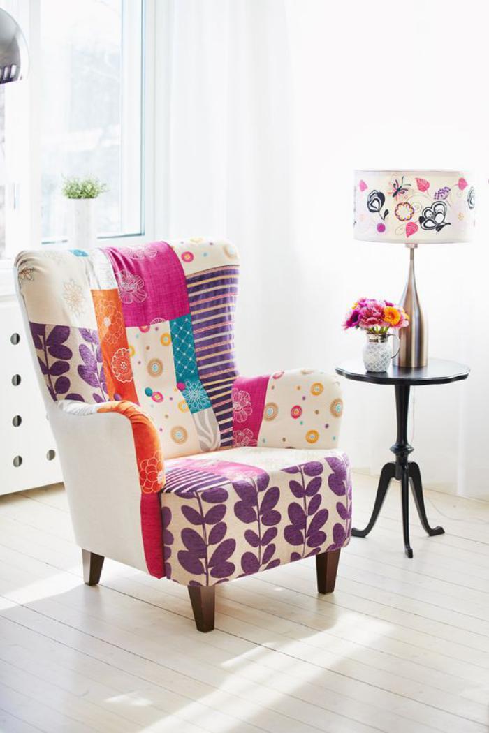 fauteuil-patchwork-idée-déco-fauteuil-vintage