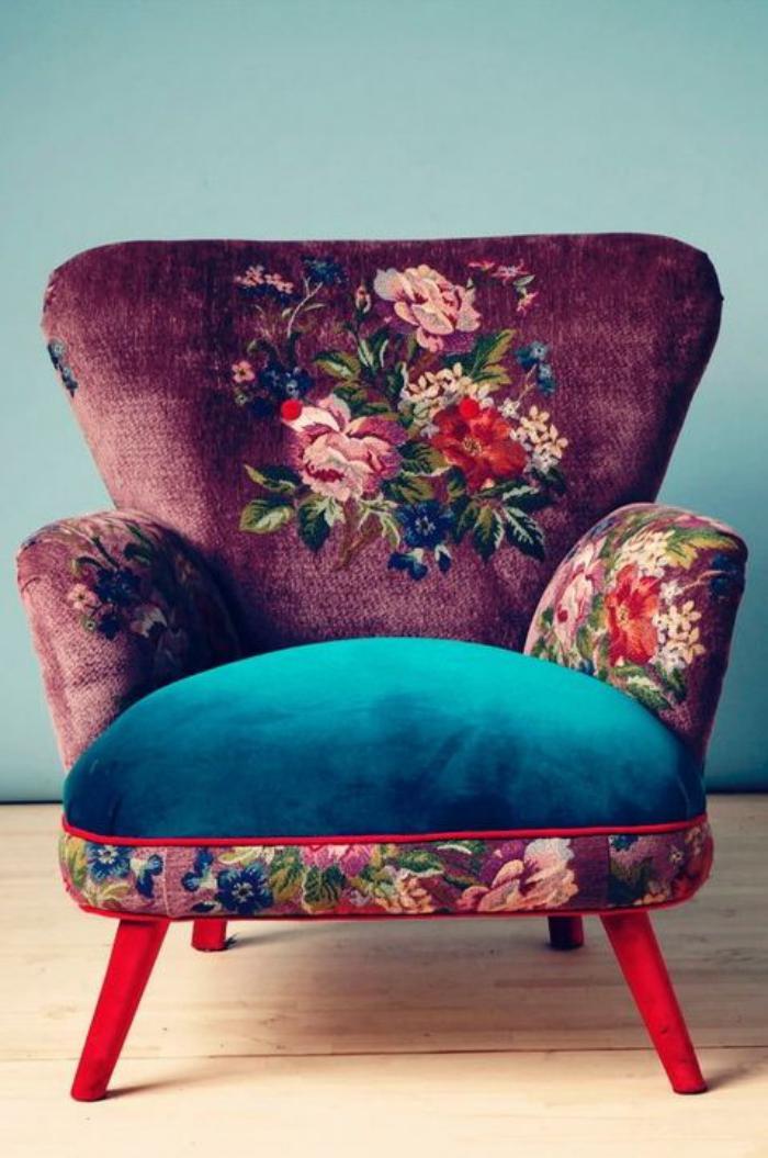 fauteuil-patchwork-jolie-pièce-art-fauteuil-vintage