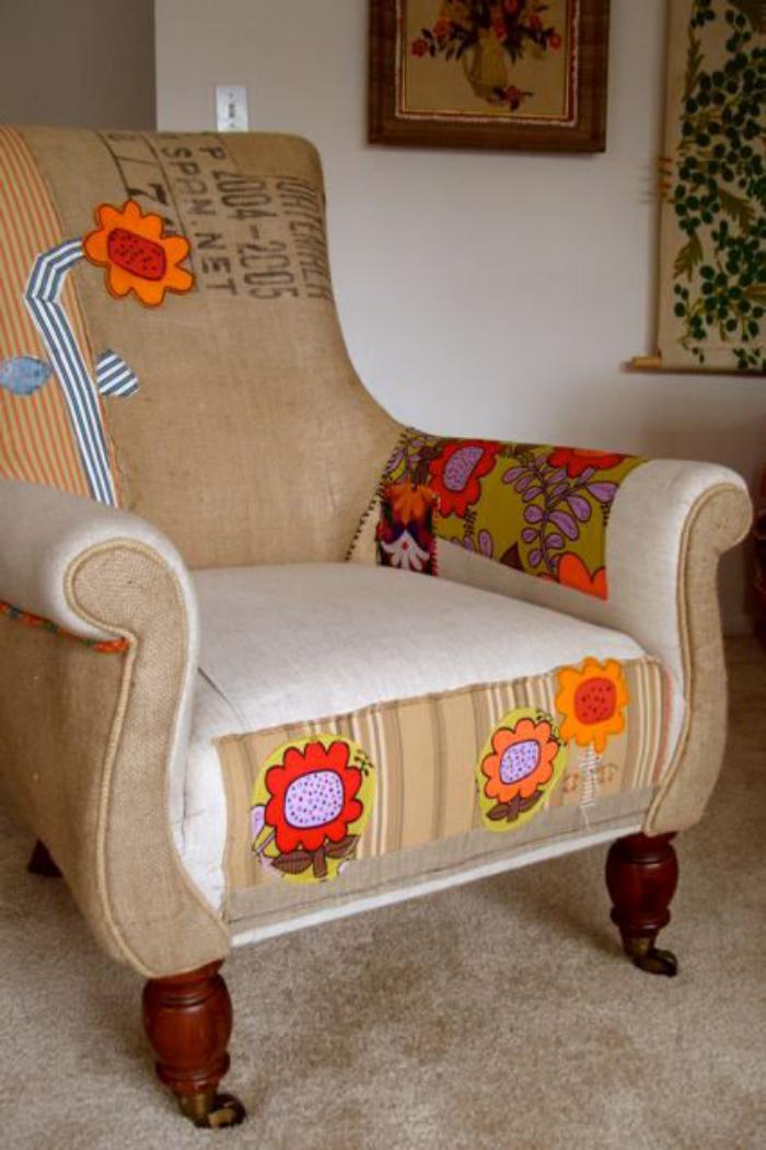 fauteuil-patchwork-motifs-floraux-radiants